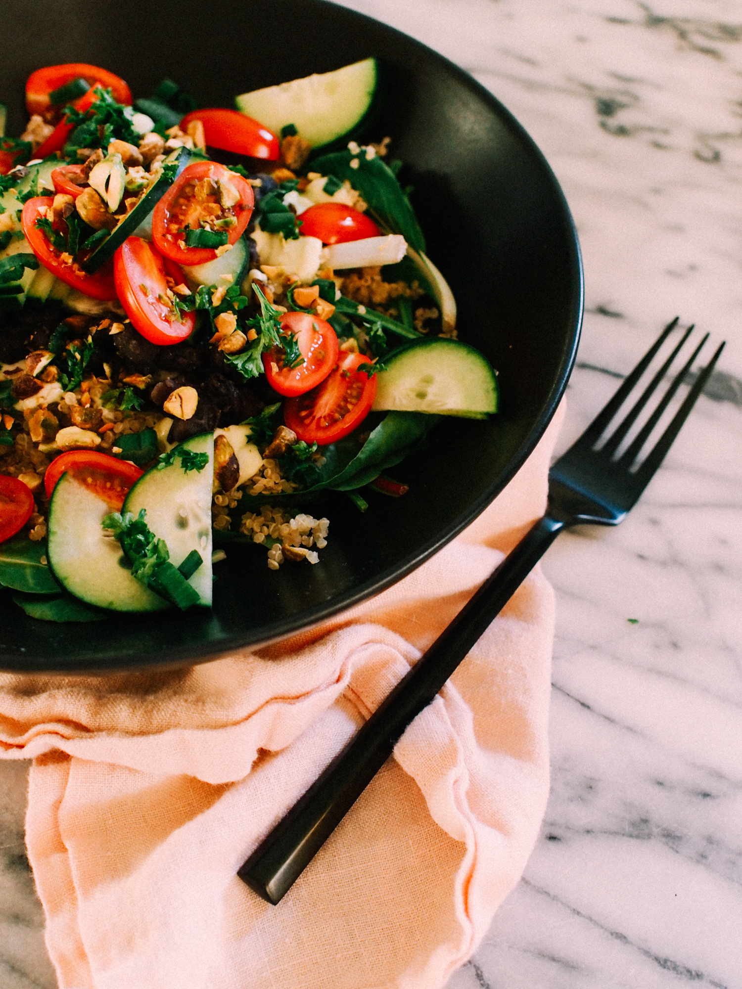 This vegetarian salad recipe is a must have for your Sunday meal prep routine! | A Fabulous Fete