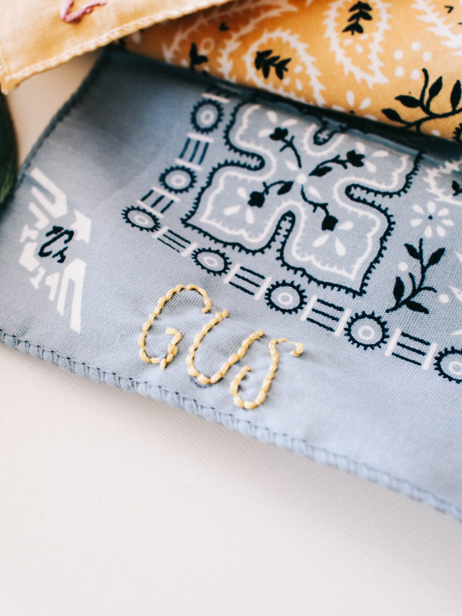 Hand Embroidered Handkerchief | A Fabulous Fete