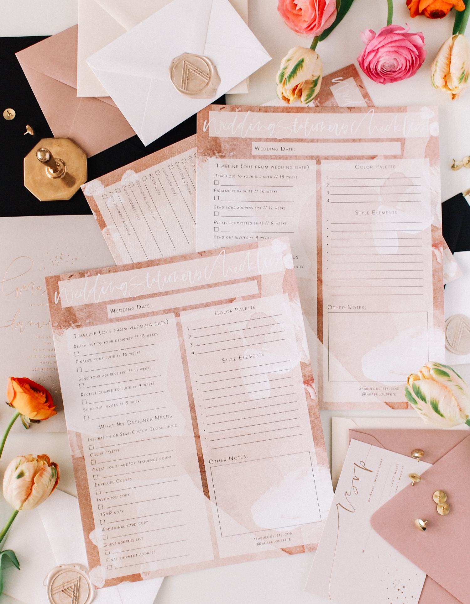 Download your free wedding stationery checklist | A Fabulous Fete
