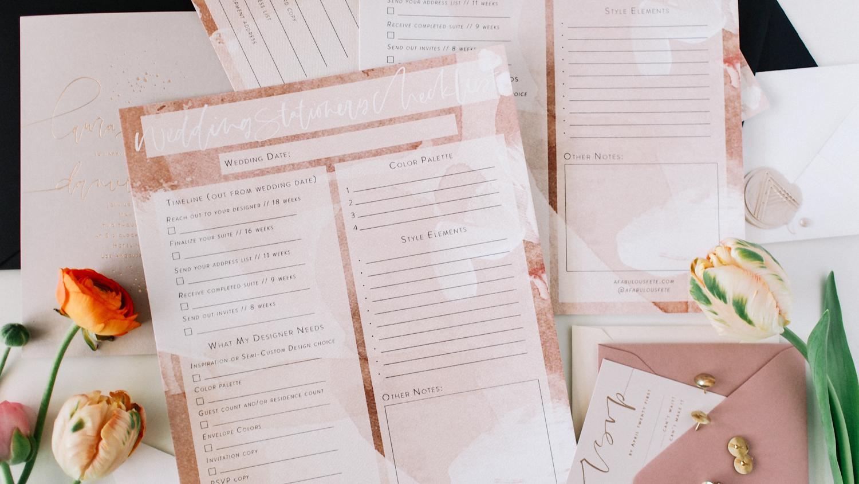 Printable Wedding Checklist | A Fabulous Fete