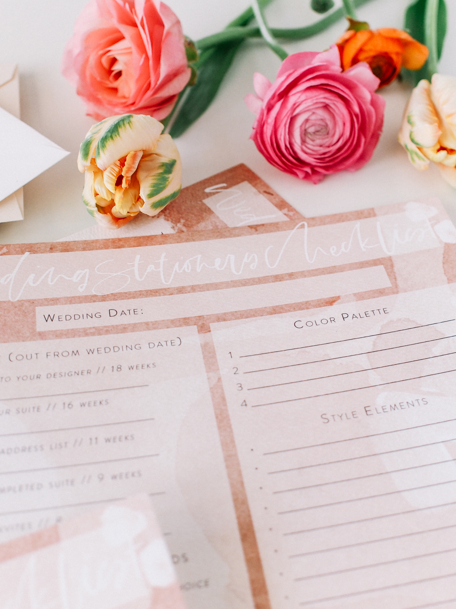 Need help planning your wedding stationery? Download this free checklist to get you started! | A Fabulous Fete