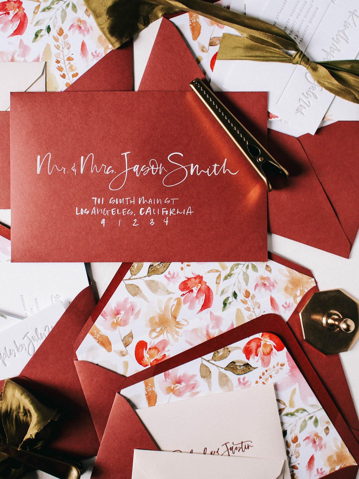 How to letter dark envelopes with white brush lettering | A Fabulous Fete