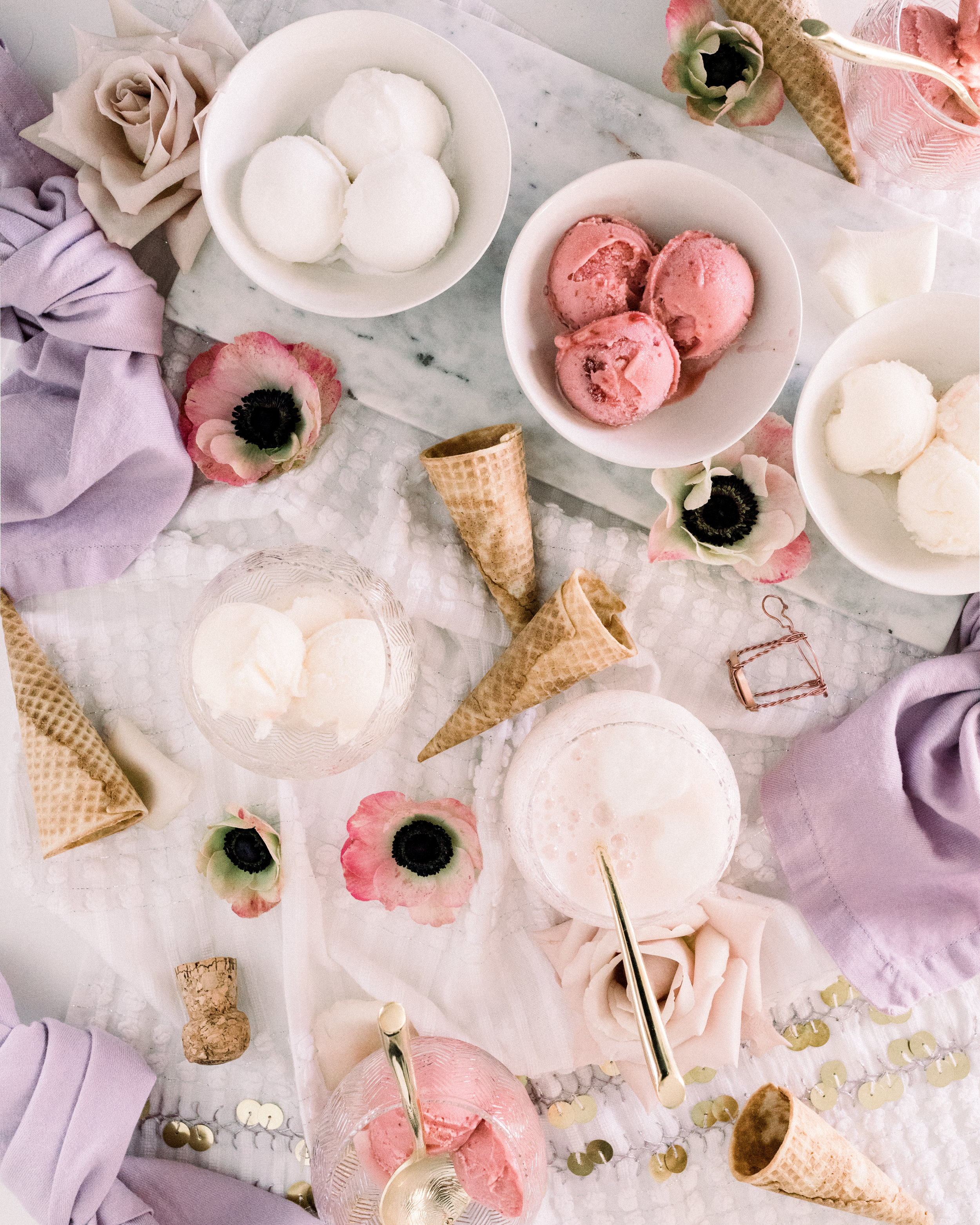 Champagne Sorbet Cocktail | A Fabulous Fete