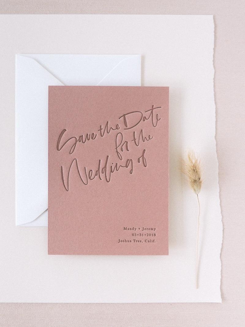 A Fabulous Fete | Letterpress Save the Date