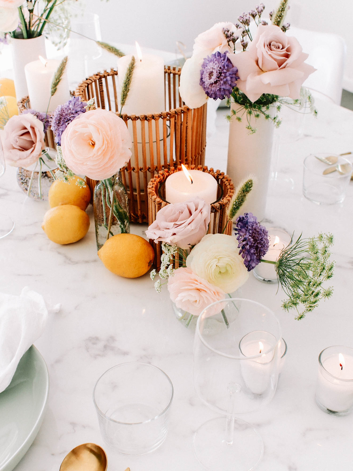 Floral Summer Tabletop // A Fabulous Fete
