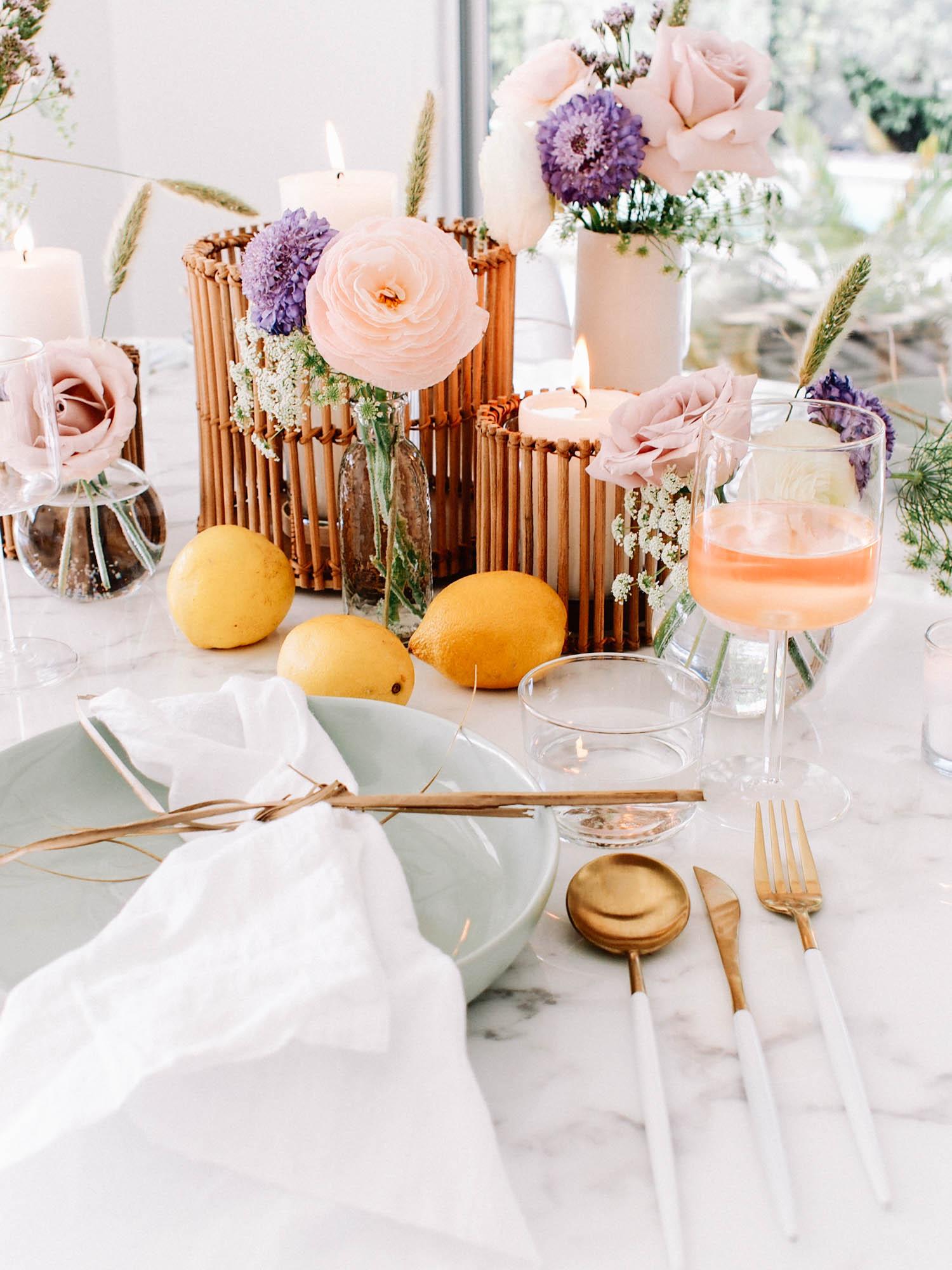 Feminine Floral Summer Tabletop // A Fabulous Fete