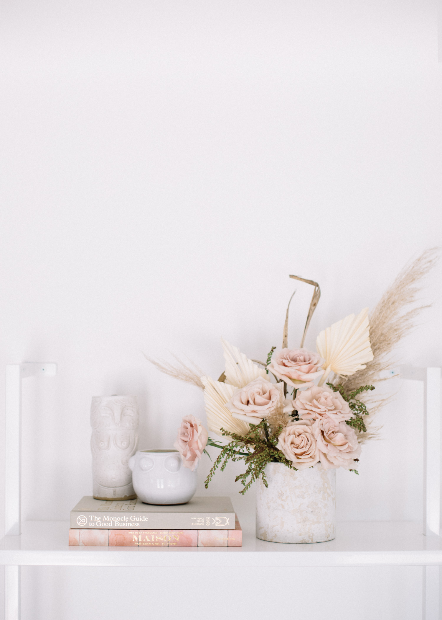 Styled Shelf with Dried + Real Flower Arrangement - A Fabulous Fete.jpg