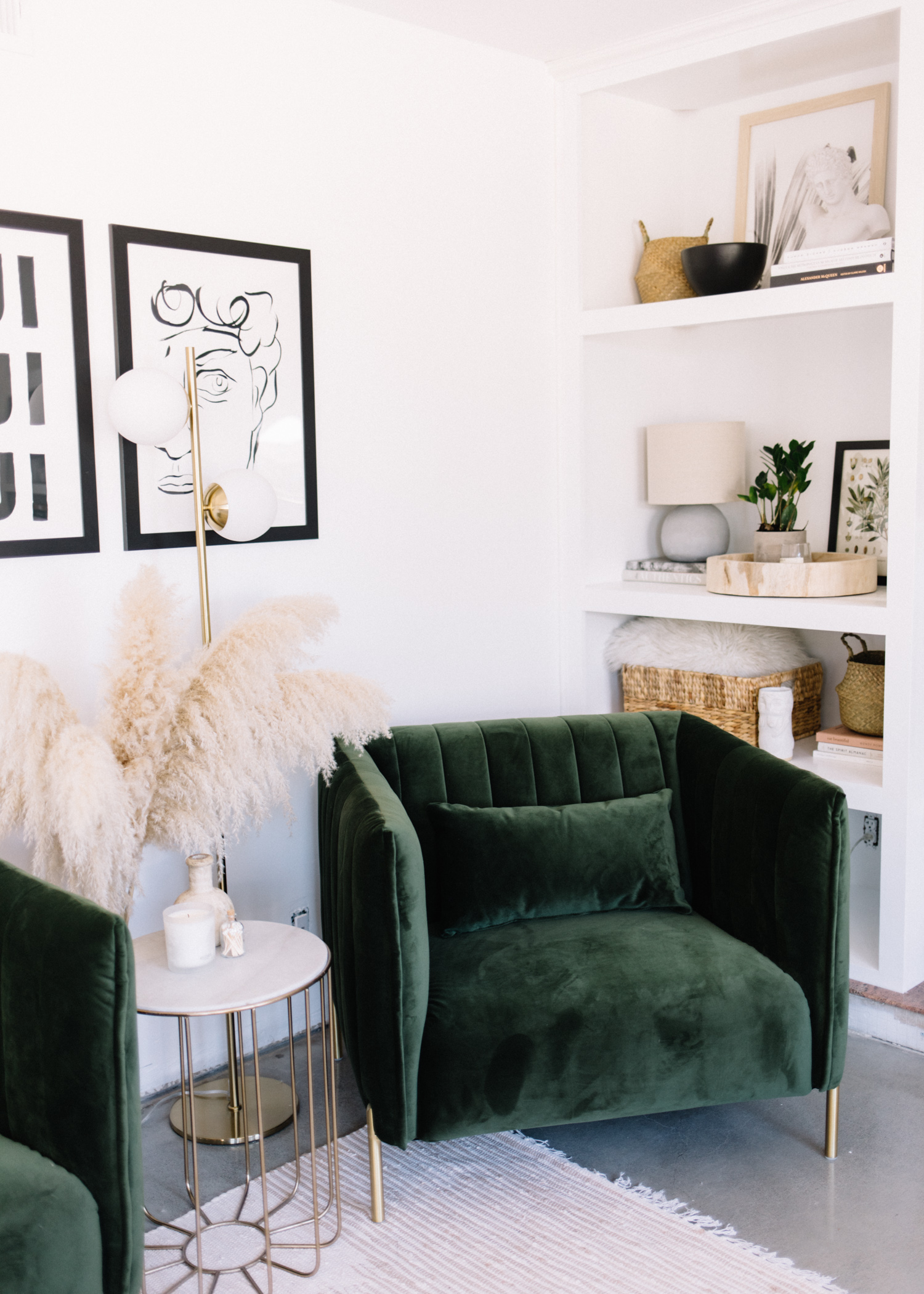 Mid-Century Meets Bohemian || Living Room Before + After with Amazon Home - A Fabulous Fete