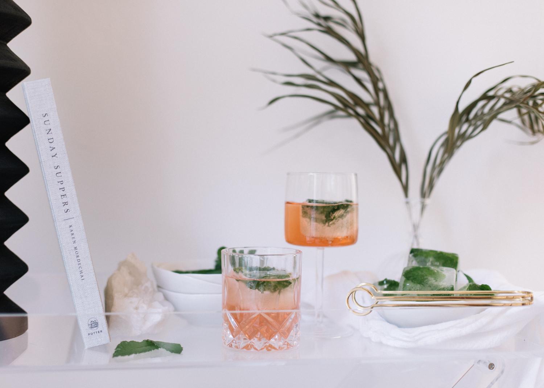 Mint Ice Cubes - Summer Cocktails - A Fabulous Fete