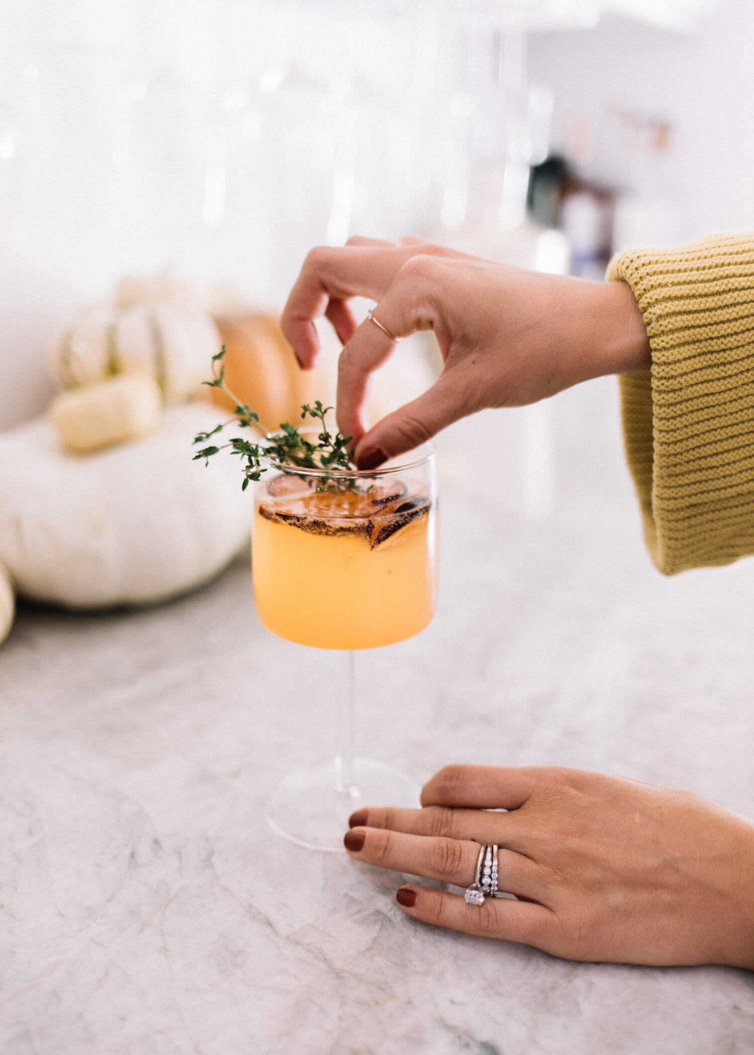 Plum and Thyme Seasonal Fall Cocktail - A Fabulous Fete