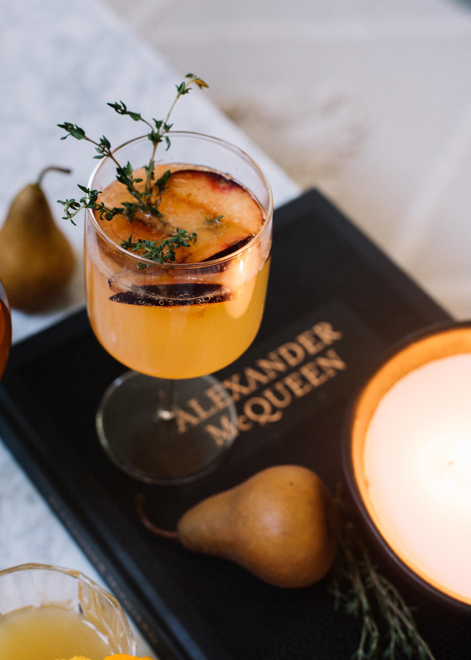 Seasonal Fall Prosecco Cocktail - A Fabulous Fete