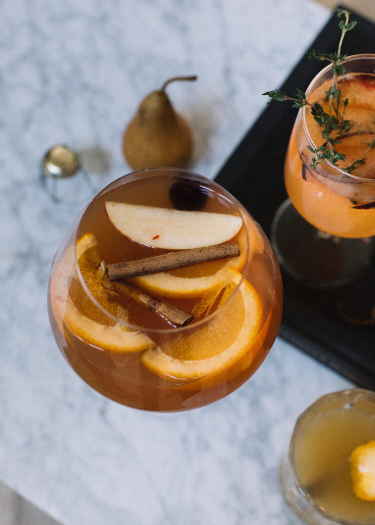Seasonal Spiced Apple Cider Sangria - A Fabulous Fete