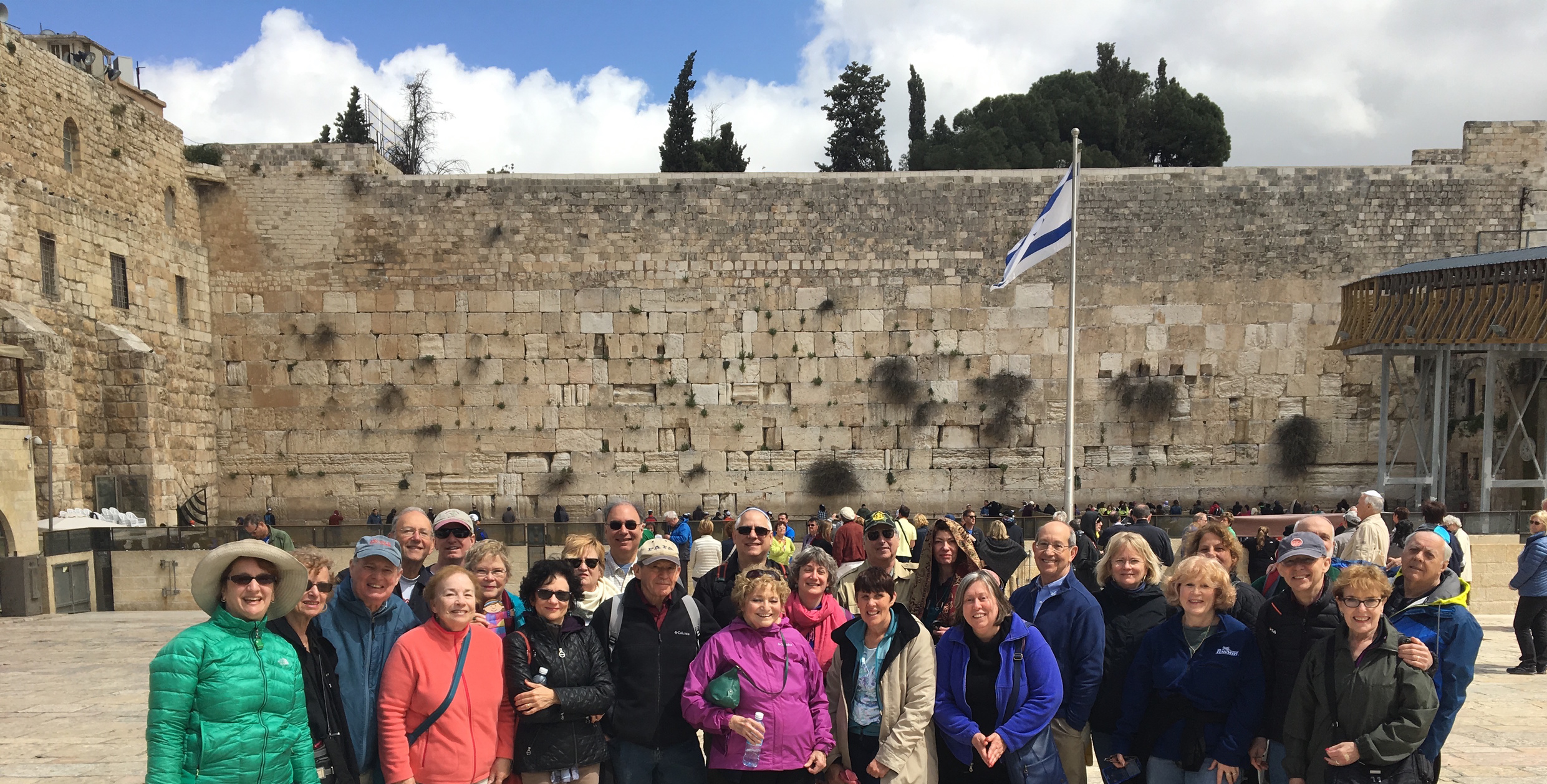 Beth Chaim travelers marking our first ever trip to Israel with a visit to the Western Wall