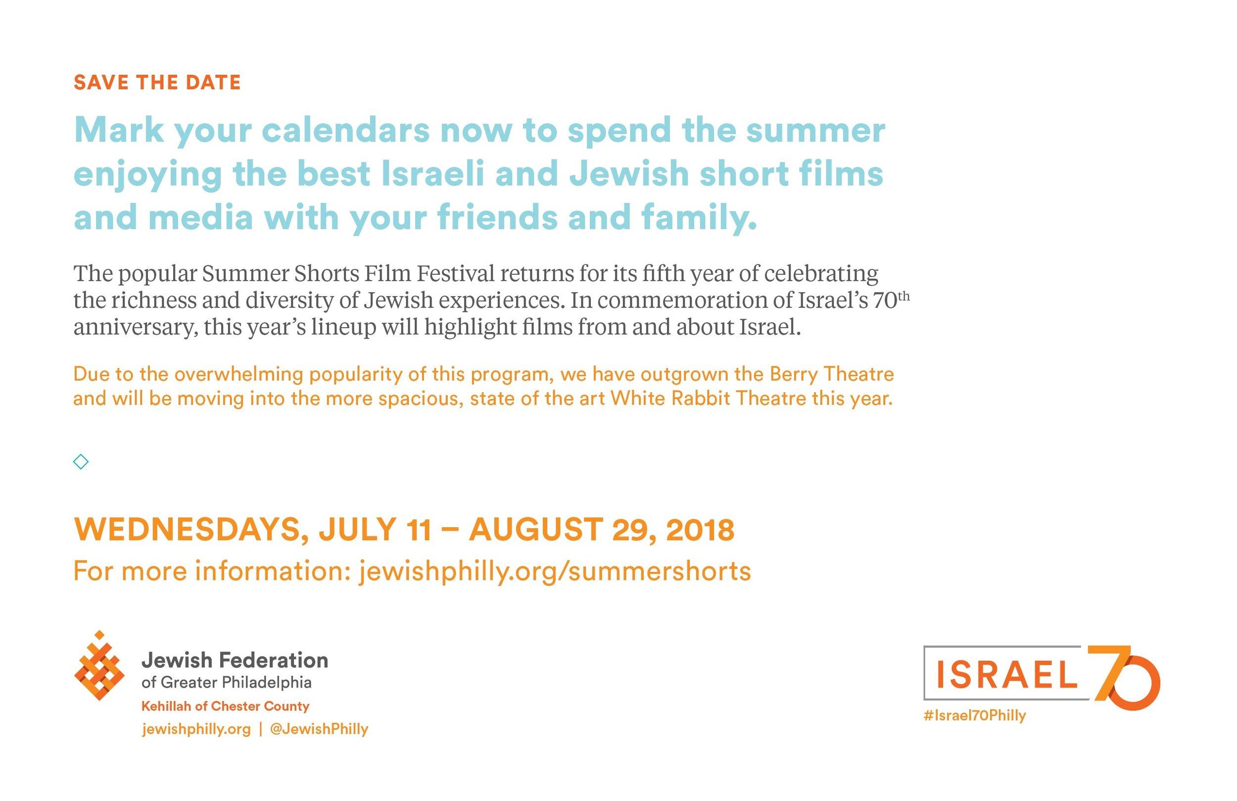 2018 savethedate - Summer Shorts Film Festival - front.jpg
