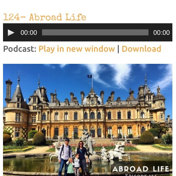 We are excited to have our abroad life travel story featured on today's episode (#124) of @familyadventurepodcast If you love travel and podcasts, have a listen. You won't be disappointed!
