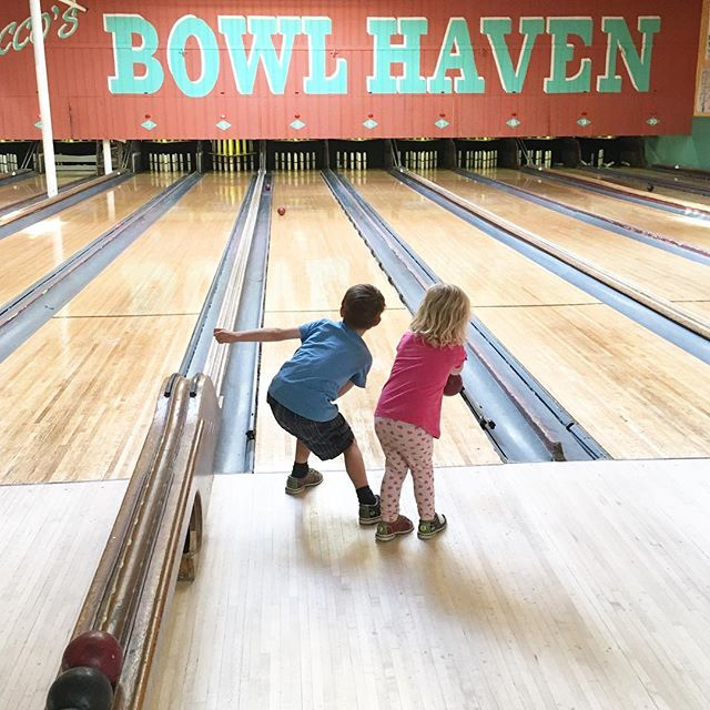 Oliver loves a good game of candle pin bowling. He told me today it was the best day of his life! I feel like he may have forgotten the two years we just spent traveling the world.