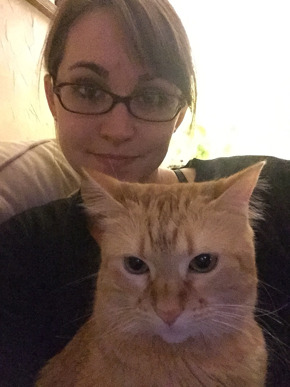 Honey wanted a selfie. She's pretty serious about that kind of stuff.
