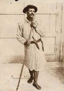 Canary Islander shepherd with knife - 1800s