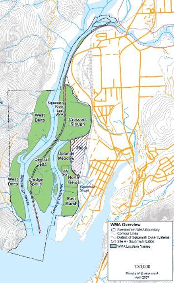 Zones in the Wildlife Management Area