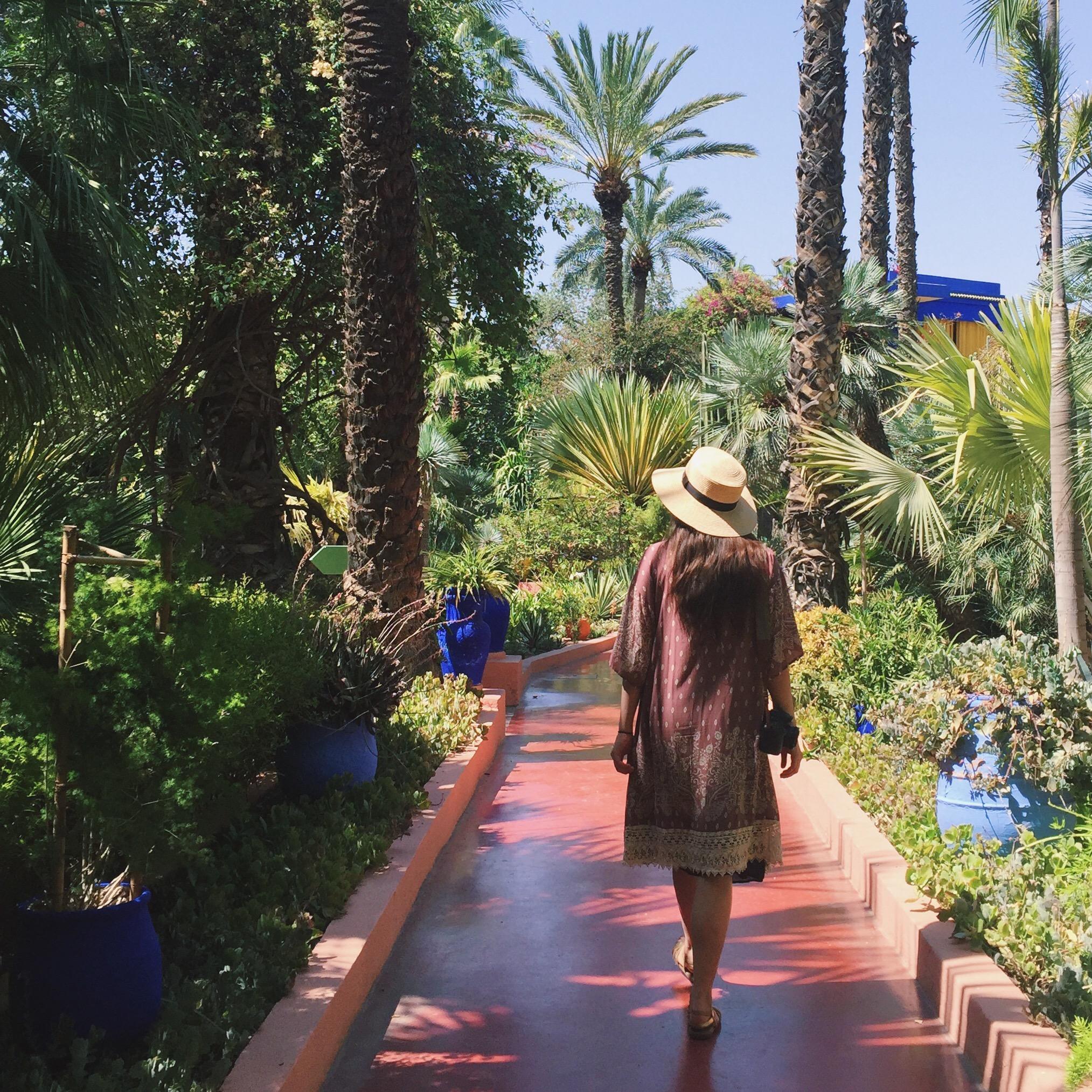 strolling through the gardens