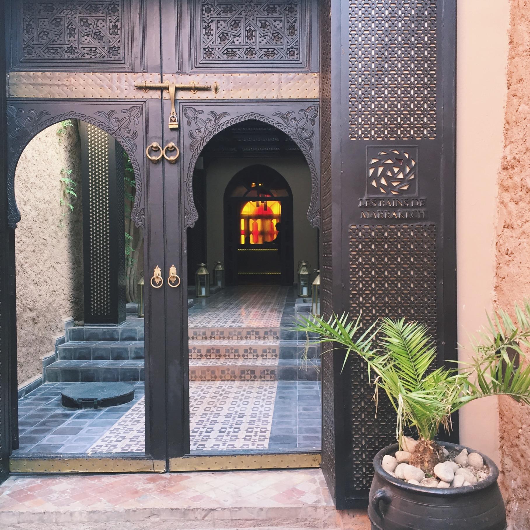 entrance to le bains