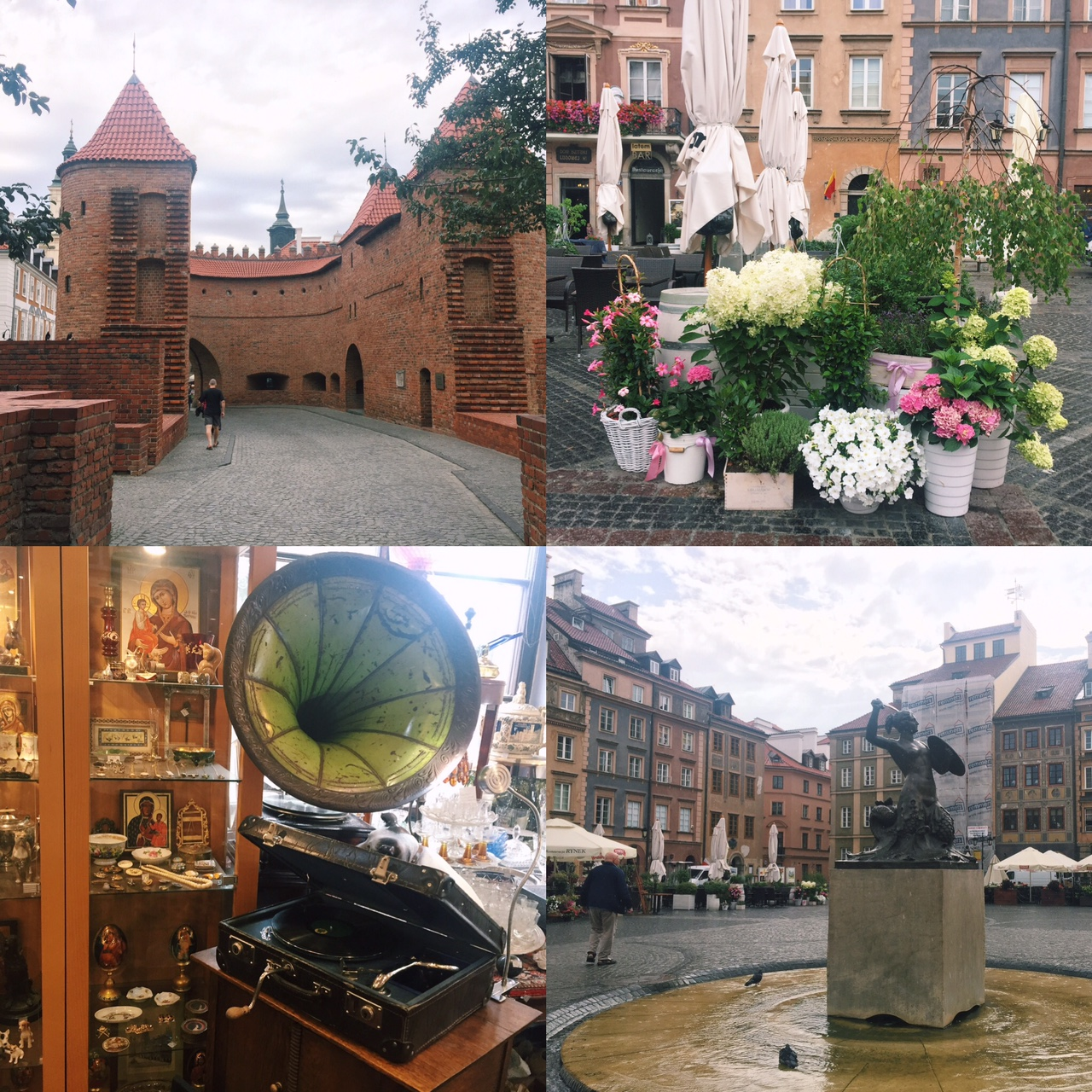 while walking around Warsaw - wish I could have around that record player I found in an antique shop home!