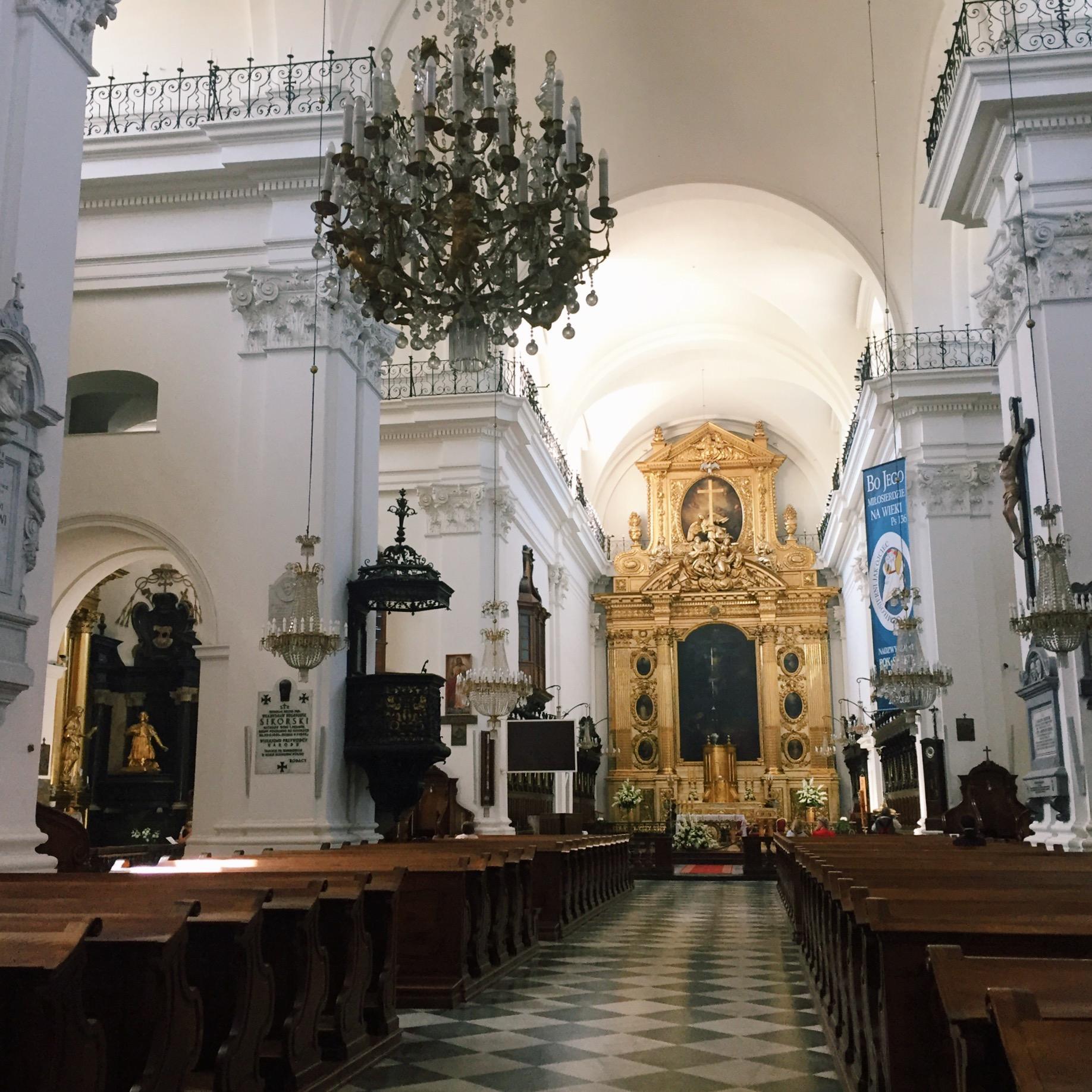 Inside the Swietego Krzysa (Holy Cross) Cathedral