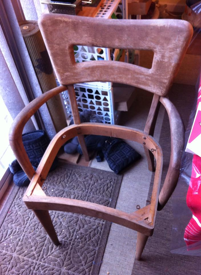 My only dogbone arm chair before.....yuck.
