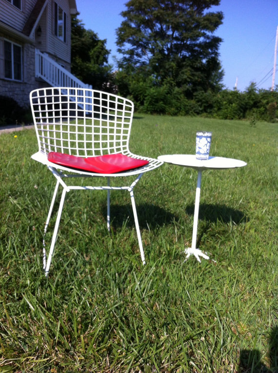 Pair of Bertoia Side Chairs, Red seat pads are also available!