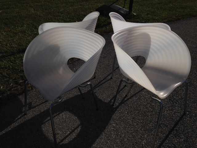 Set of 4 Tom Vac Chairs by Ron Arad.....SEXY!  Click to visit the listing and BUY DIRECT!