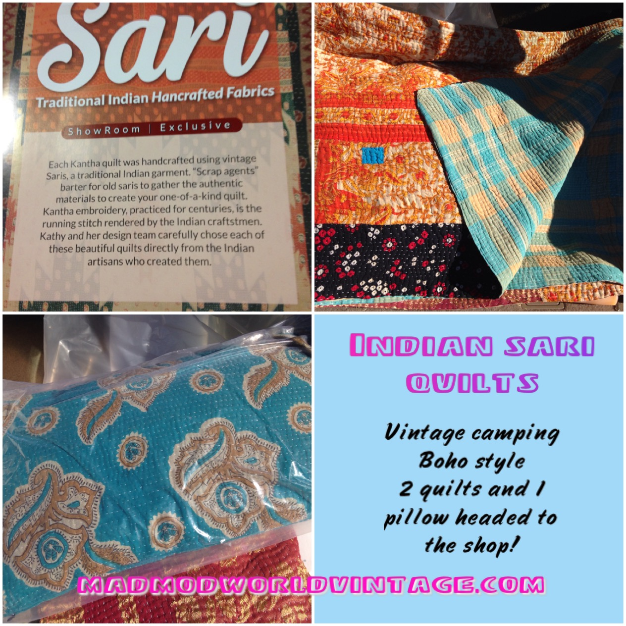 Indian Sari blankets and pillows. Completely gorgeous!