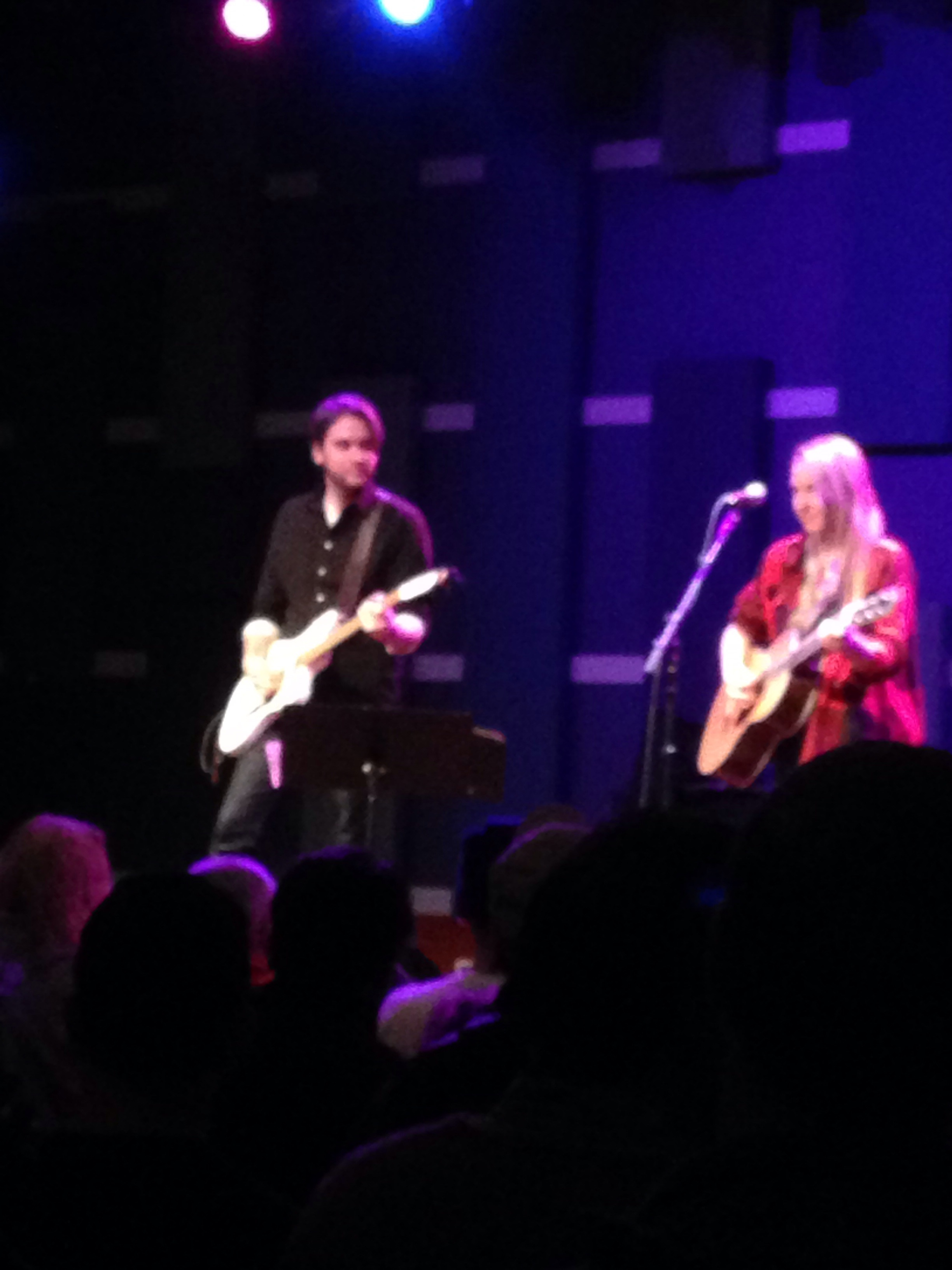 Lissie on acoustic and her electric accompanist.  He was very smooth and subtle under her.  Her vocals were flawless.