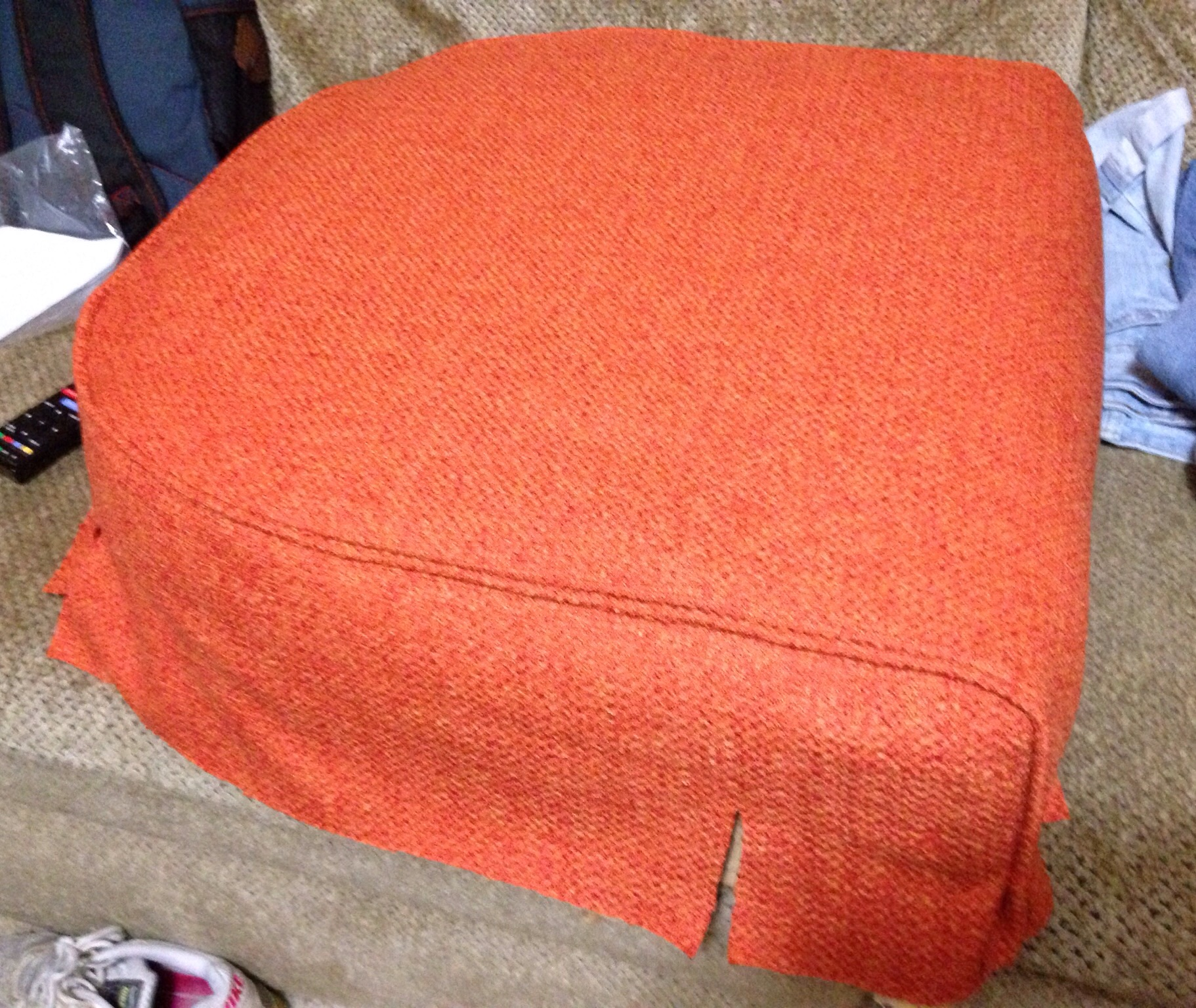 A preview of the seat fitted with the new fabric!