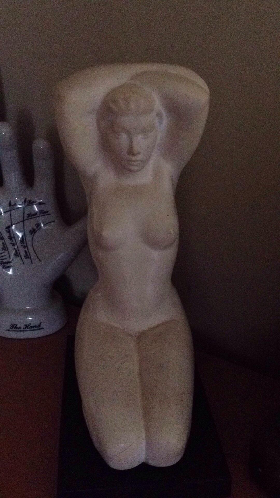 Kneeling Nude by Bruno Mankowski