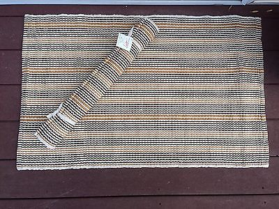 Multi Stripe Cotton Woven Rug 36 by 24