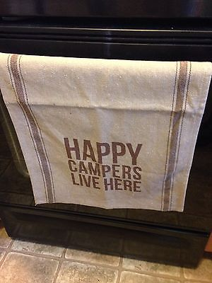 Happy Campers Live Here cotton kitchen towel