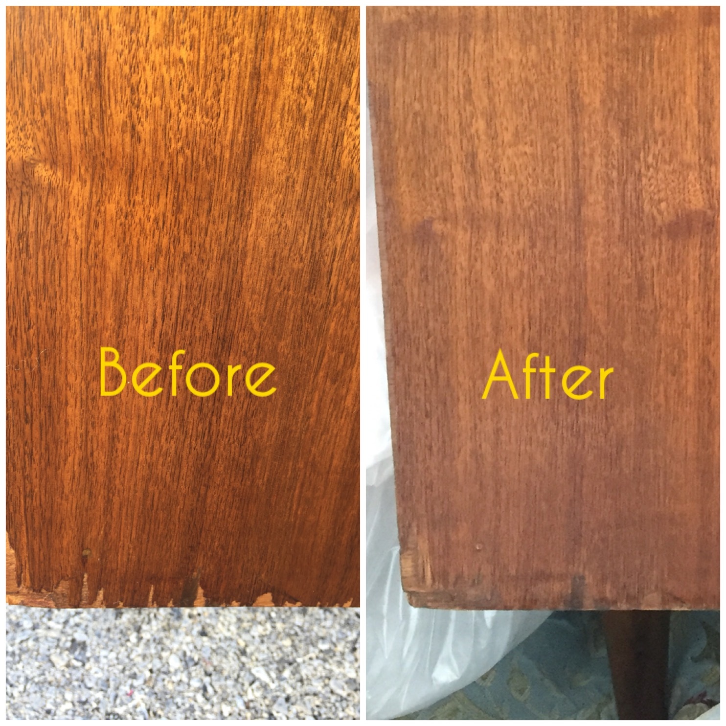 Adding some stain to darken the area and then adding a clear coat to protect and seal helped this area blend in.