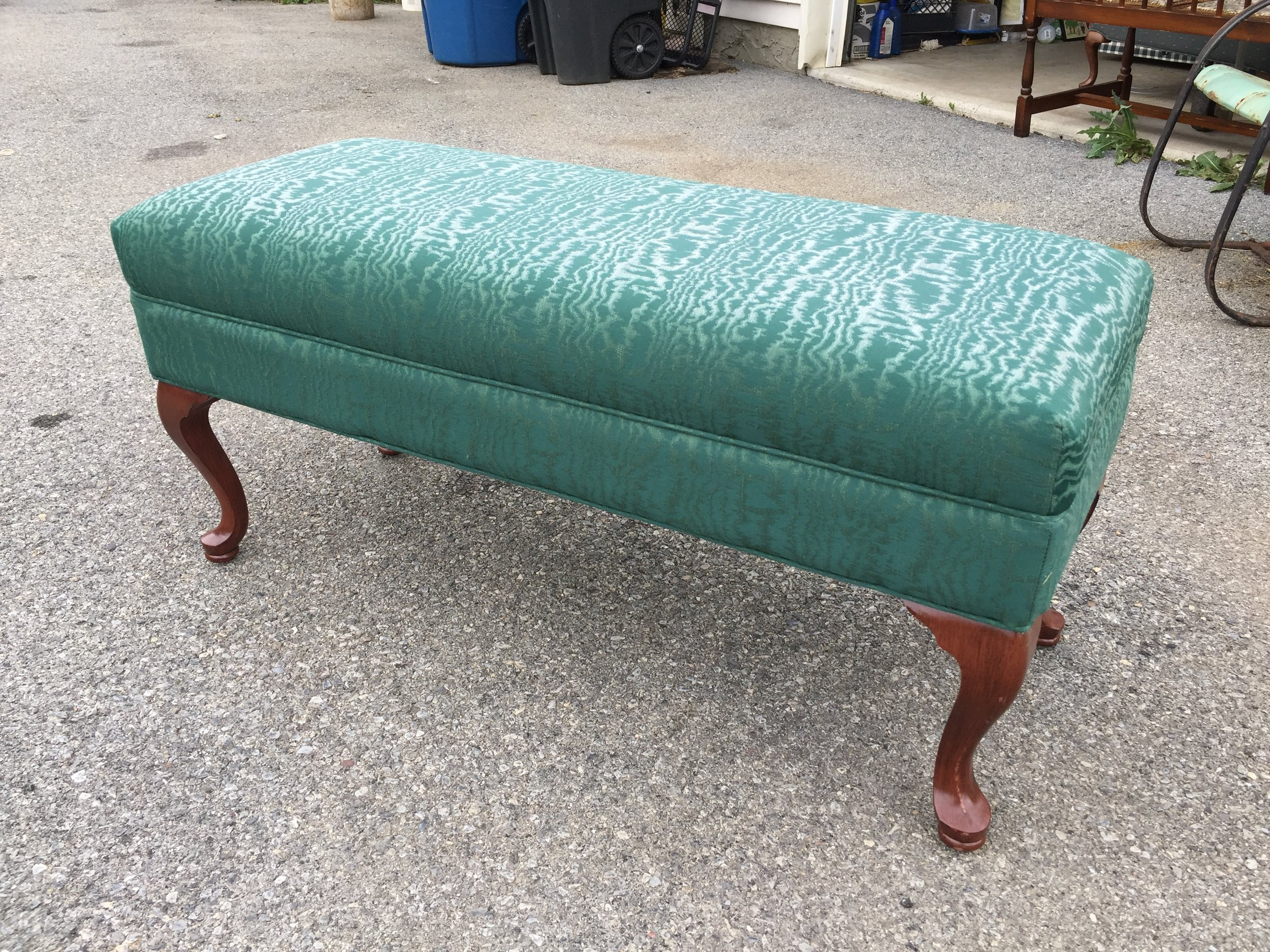 Gorgeous Queen Anne bench.  Perfect in every way!  Comfy too! $75