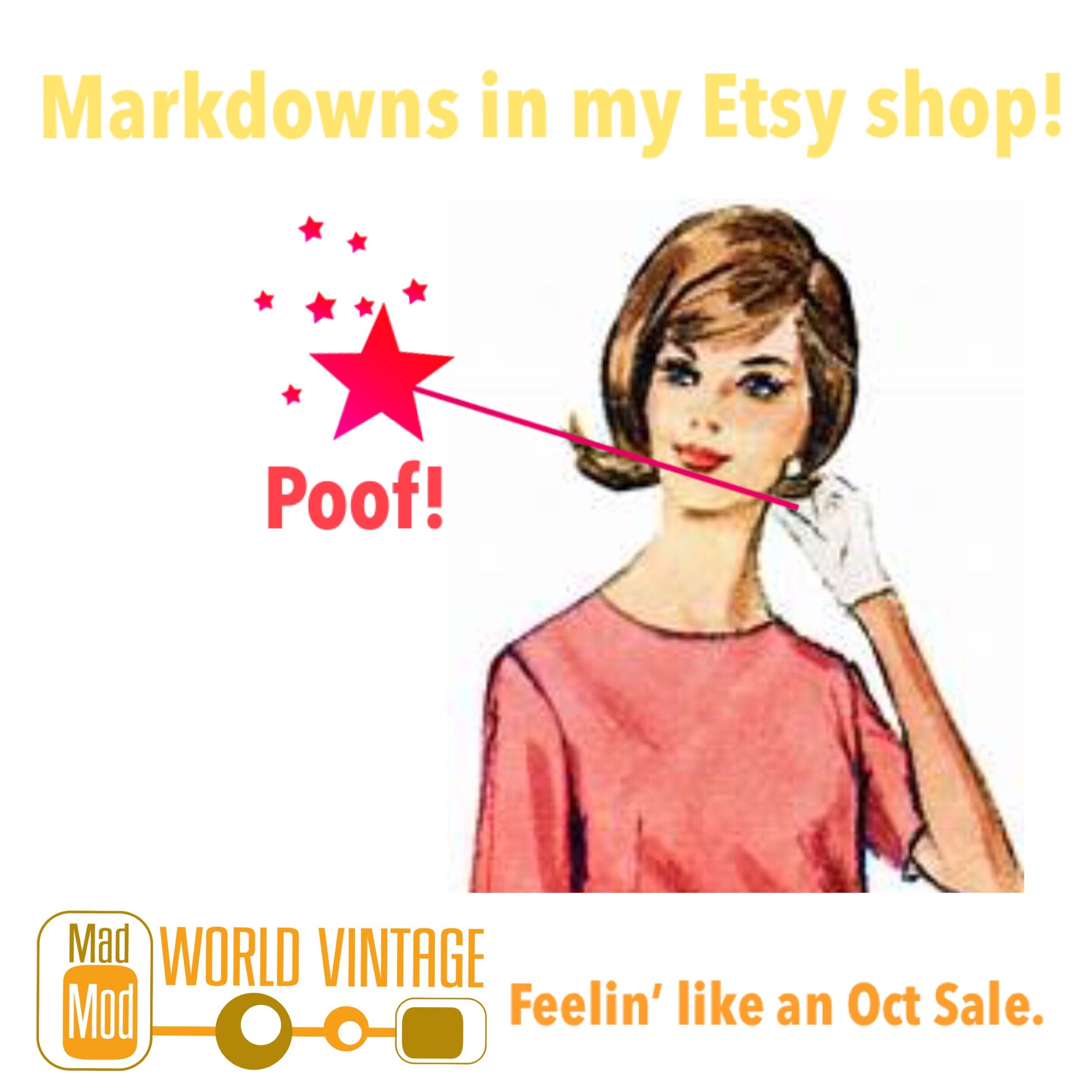 Shop and save! Lots of markdowns in my Etsy shop! Sale runs through oct 31.