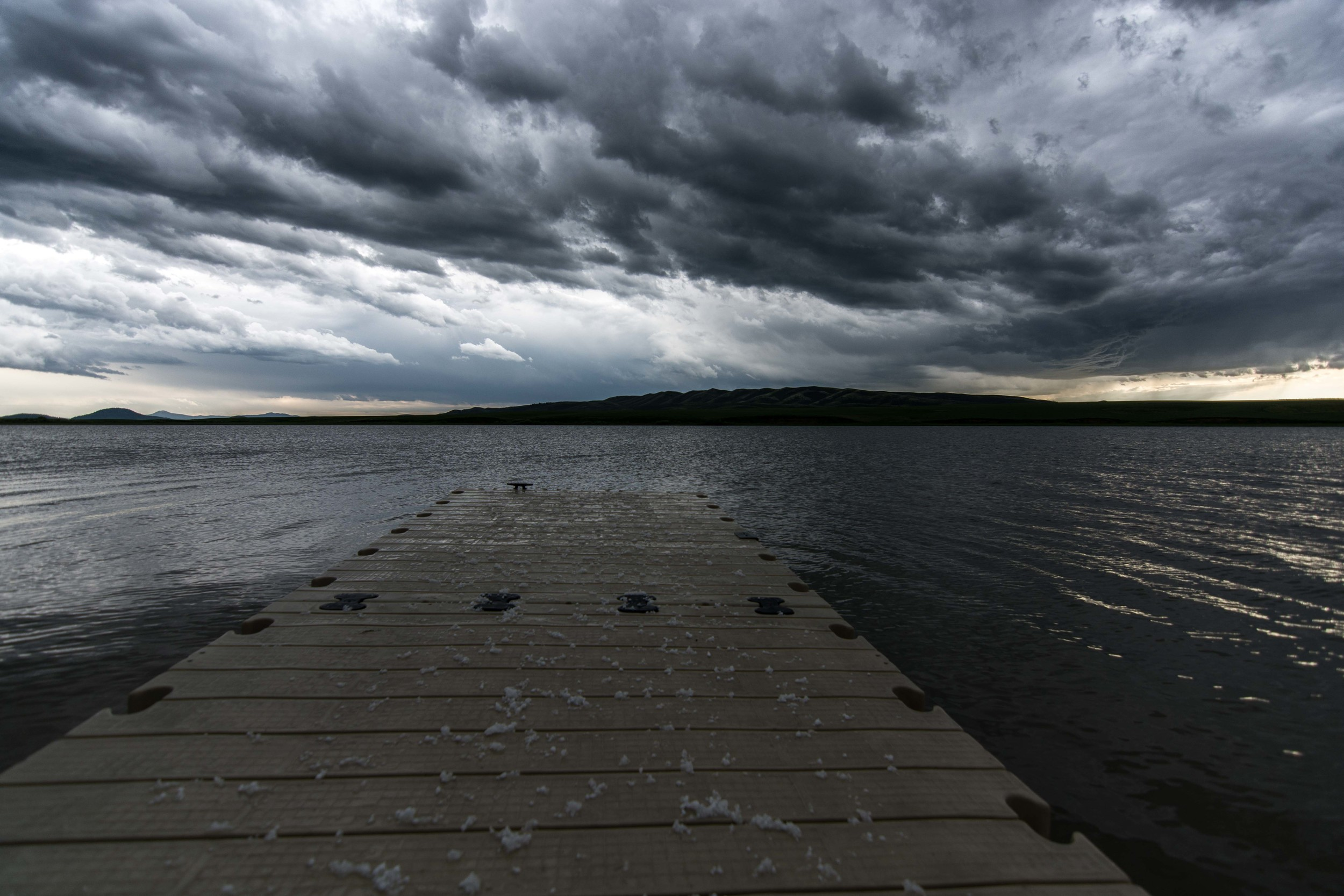 After the Storm in the Blackfoot Reservoir