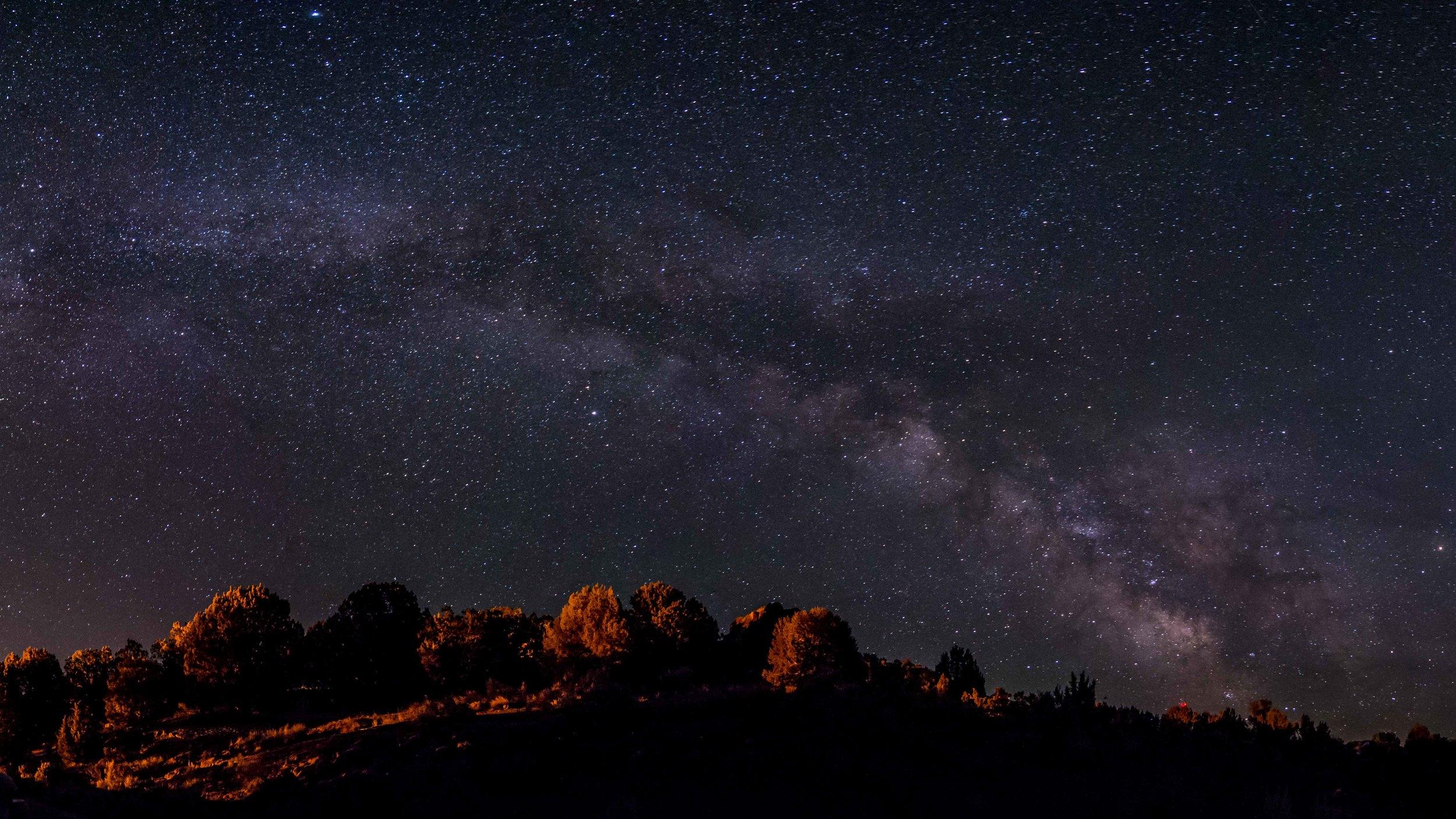 Milky Way over Massacre Rocks