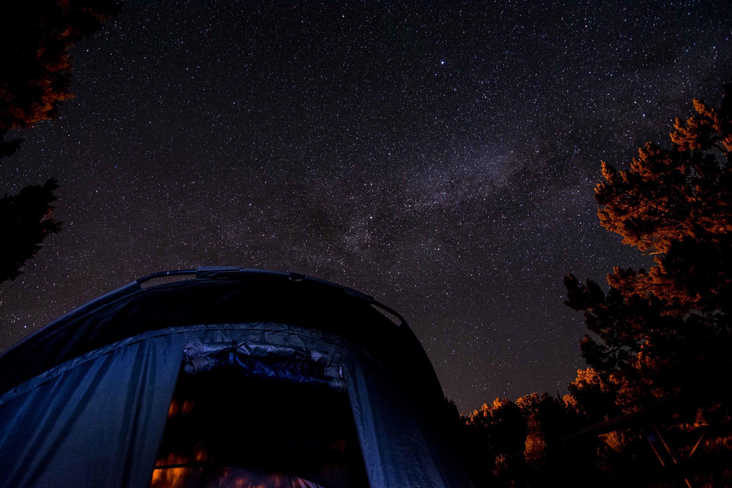 Bivvy and Milky Way