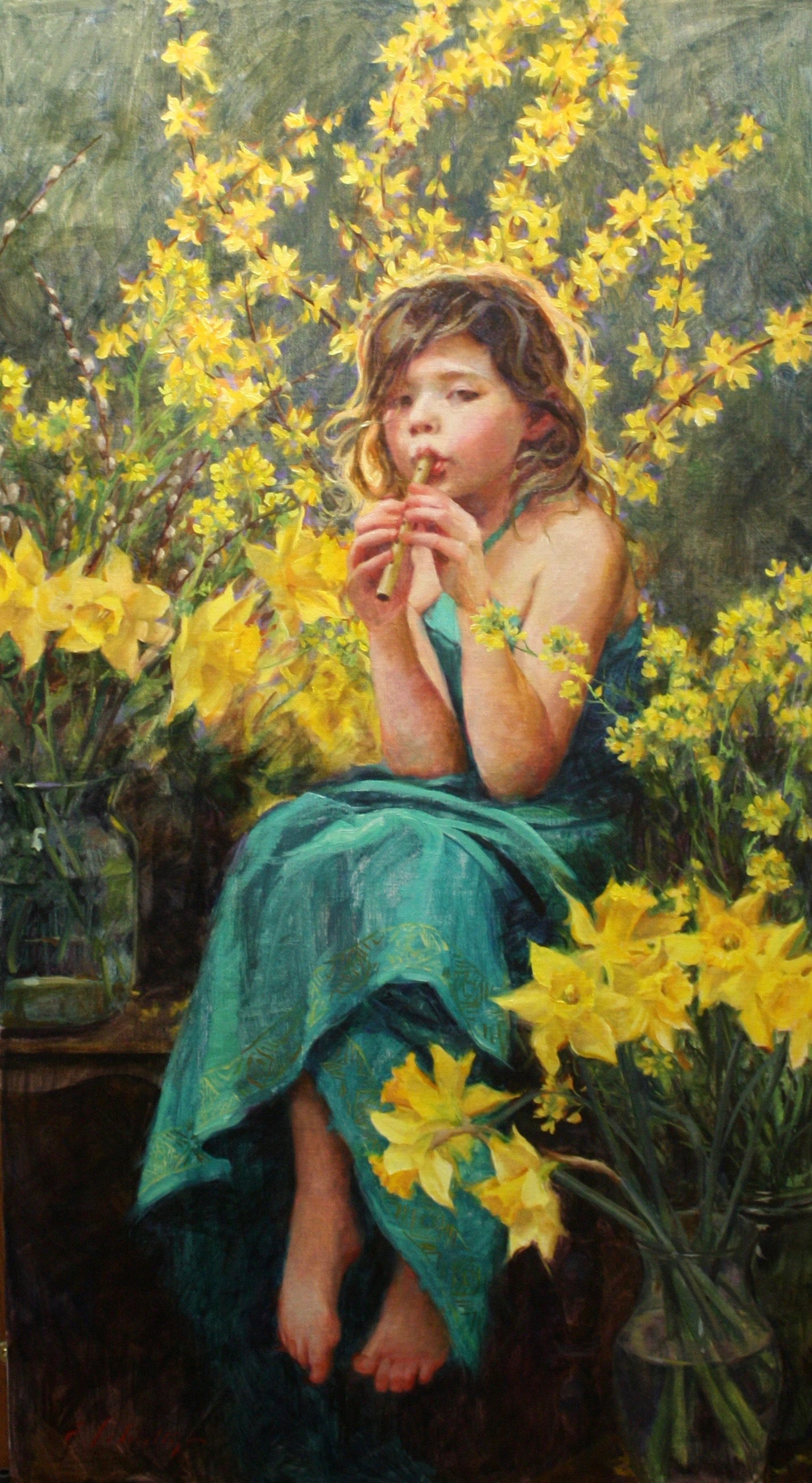 """Welcoming Spring 22x40"""" $1950"""
