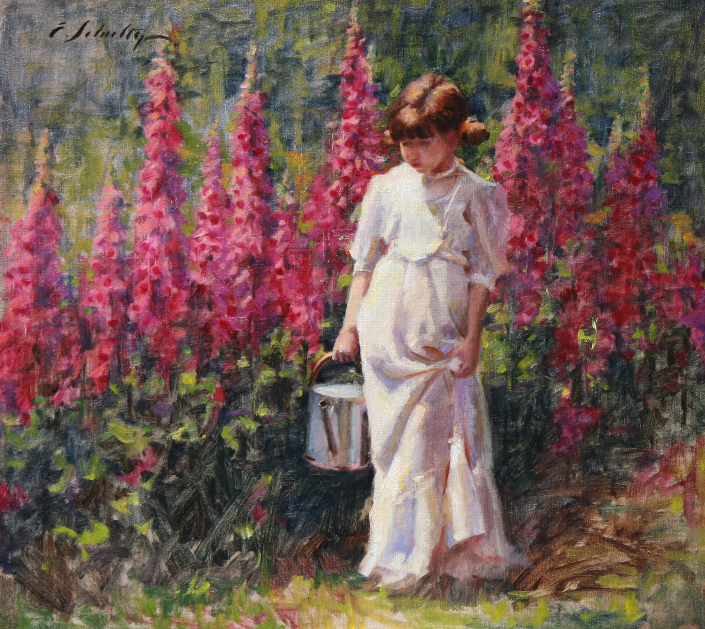 """Foxgloves"" 14x14 $550"