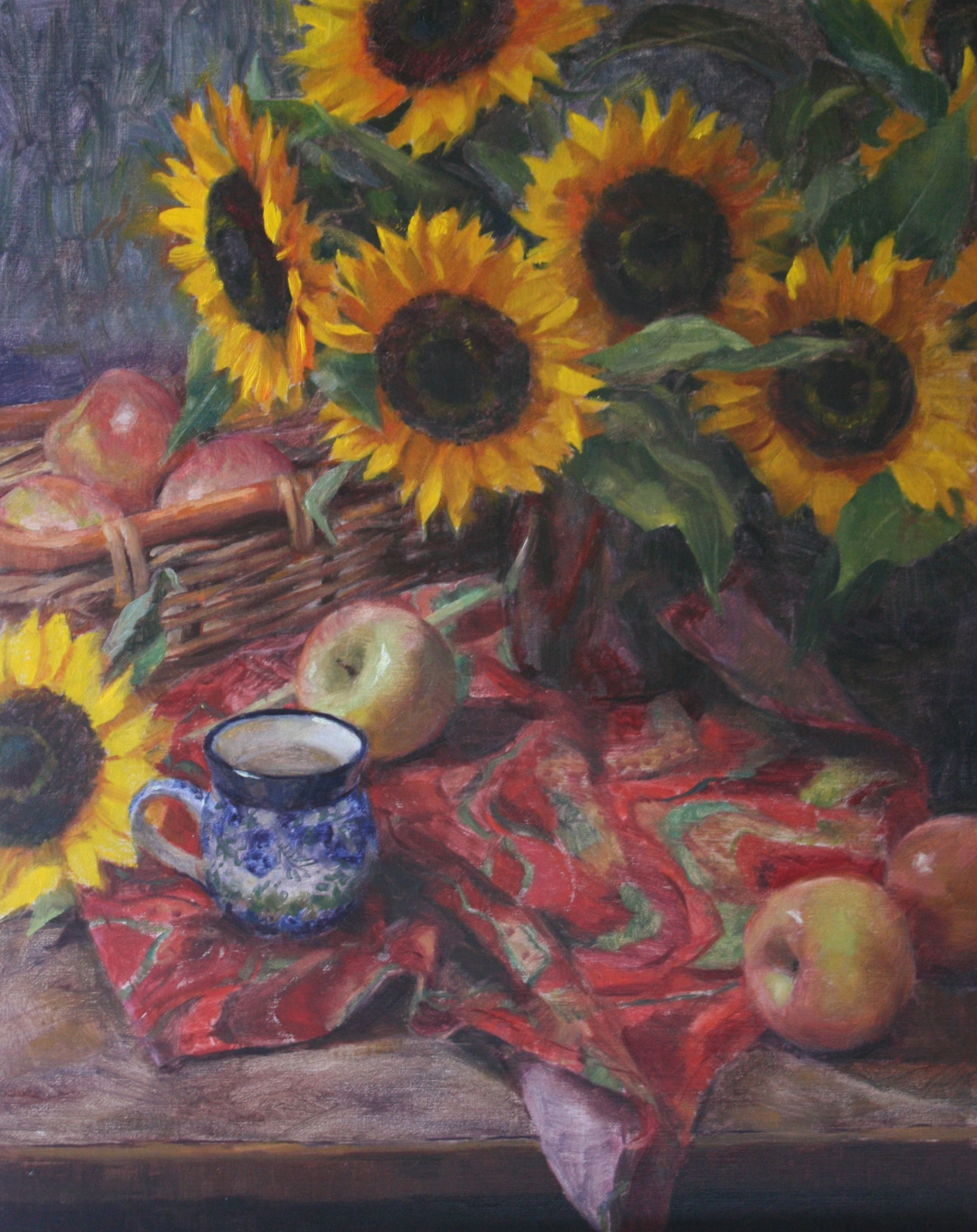 """Sunflowers and Apples"" 16x20 $850"