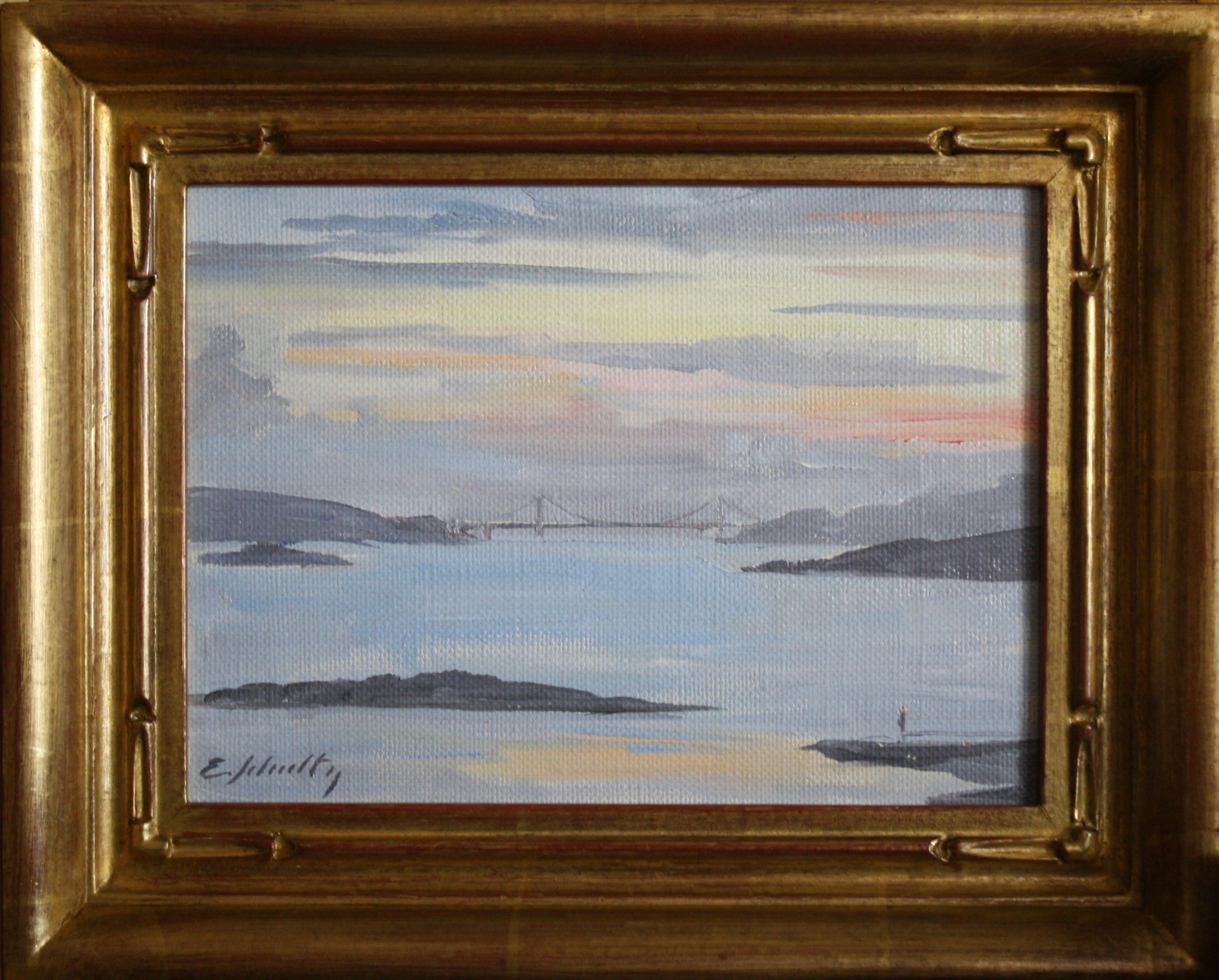 """Golden Gate Sunset"" 6x8 $350"