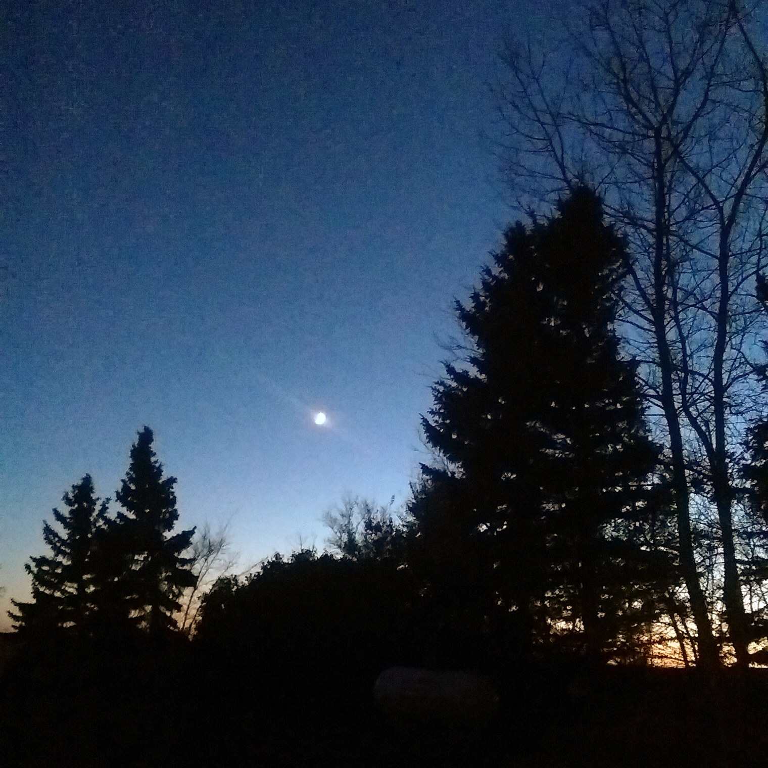 Full moon picture from my in-laws farm in October, near Watrous, SK