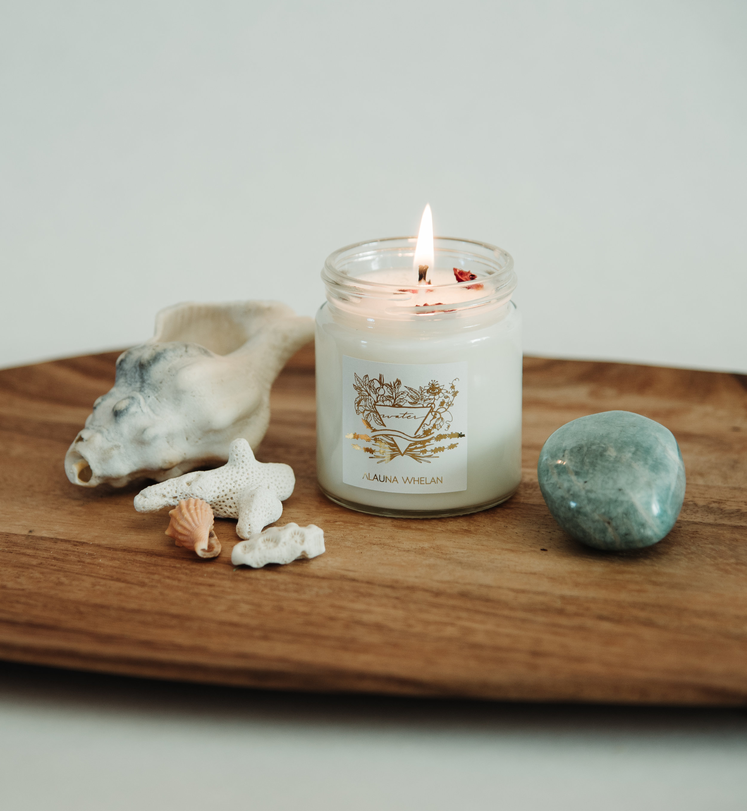 femininity - water element intention candle