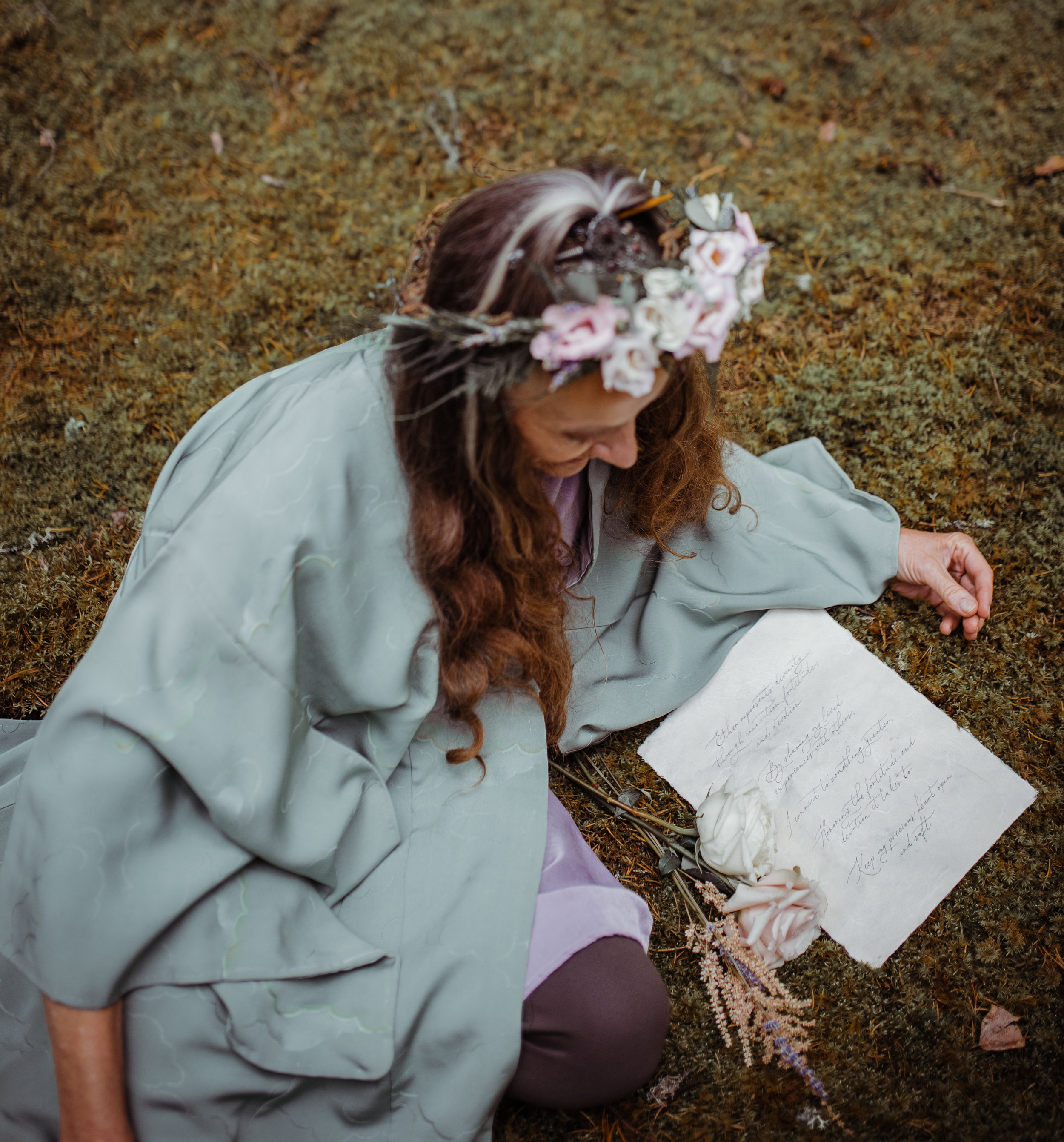 photo:  @janeswildheart  stationary:  @paperocelot  model:  pat prokopchuk  florals:  @michellesflowers  kimono:  @hazlewoodvintage