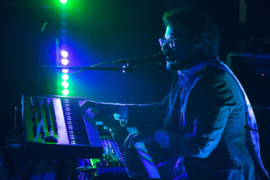 """Keyboardist Mike Mayea stood in for Tropico Blvd Jan. 25, creating huge, resonant sounds for everything from the """"Stranger Things"""" theme song to Talking Heads' """"Once in a Lifetime."""" Brendon Porter 